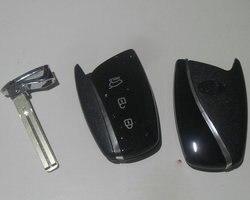 3 Botões Inteligente Remoto Chave do Caso Shell Para Hyundai new Santafe novo ix45 gerui Equus Tampa Chave Fob Em Branco 5 Pçs/lote