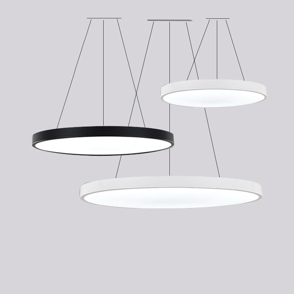 Lámpara LED de hierro acrílico, redonda, sencilla, Multicolor, de suspensión, lámpara colgante, Lustre, lámpara colgante, lámpara colgante para vestíbulo