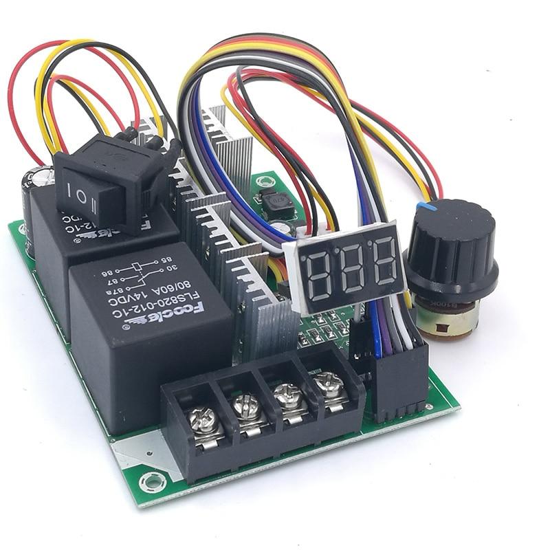 Controlador de velocidad PWM pantalla Digital de motor DC 0 ~ 100% ENTRADA DE Módulo regulador ajustable MAX60A 12V 24V