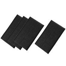 2 pairs Nylon Hairdressing Front Hair Fringe Holder Grip Black