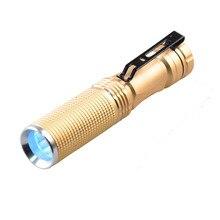 [Gratis Schip] 365nm Wave Band Ultra Violet Blacklight 5 W Power Paars Handheld Clip Zaklamp Voor Urine, bloed, Sieraden, Detecteren