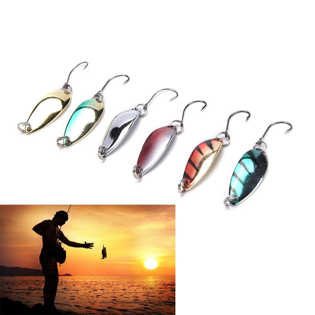5 uds Señuelos de Pesca Wobbler Spinner cebos cucharas artificiales bajo duro lentejuelas Paillette Metal acero gancho aparejos señuelos