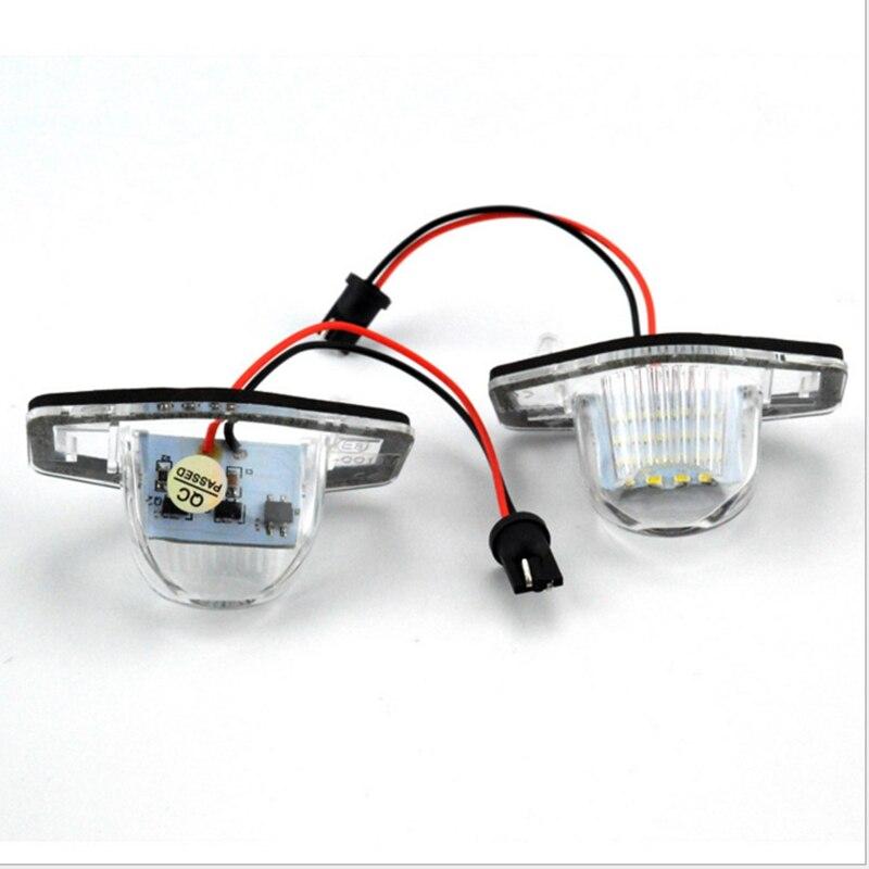 1 par de luces LED para placa de matrícula de xenón blancas para Honda Jazz Fit CR-V Odyssey, etc.