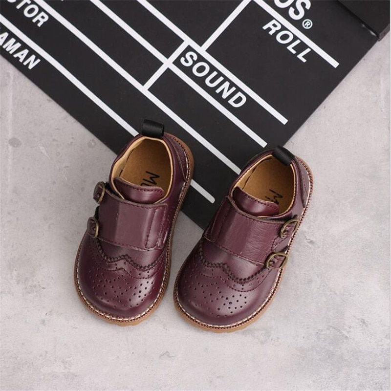 Genuíno sapatos de Couro das crianças 2019 nova primavera crianças sapatos meninos meninas Do Couro sapatos únicos sapatos de bebê sapatos de Couro de desempenho