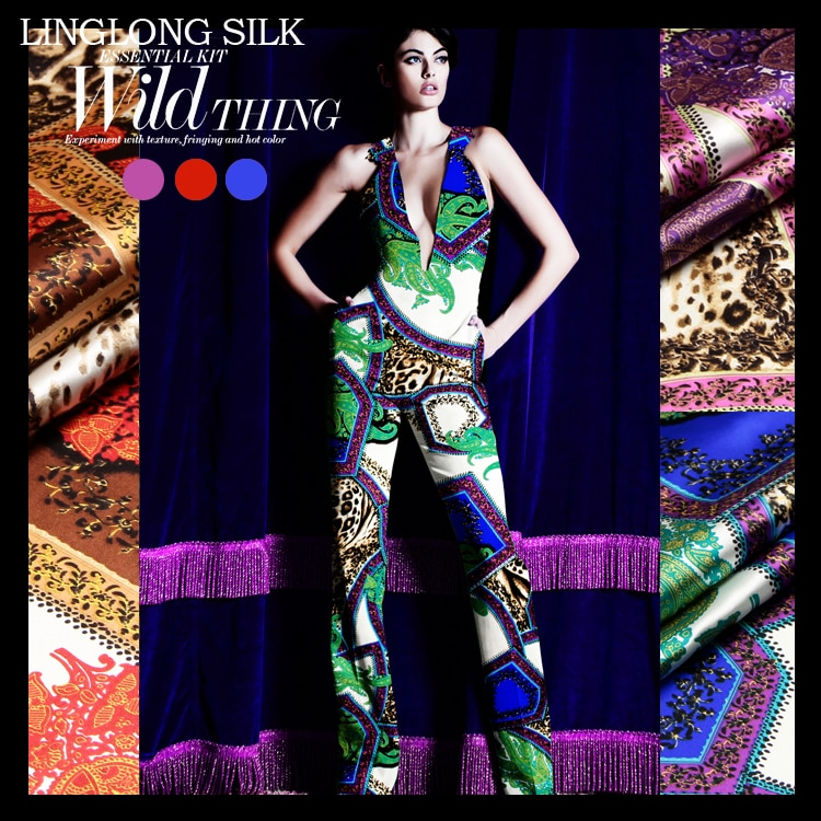 Seda impresa estiramiento satén 118cm ancho 19momme/seda de morera pura Tissus para vestidos de fiesta de boda costura leopardo