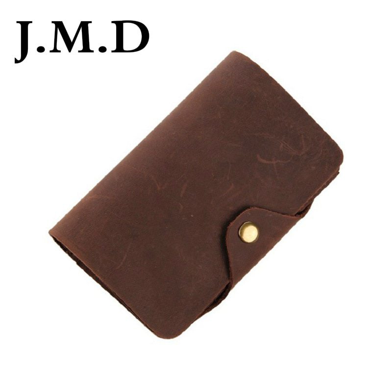 J.M.D 2019 New Arrival 100% Men's Fashion  Leather Wallet Head Layer Cowhide Wallet Long Paragraph Wallet 8033