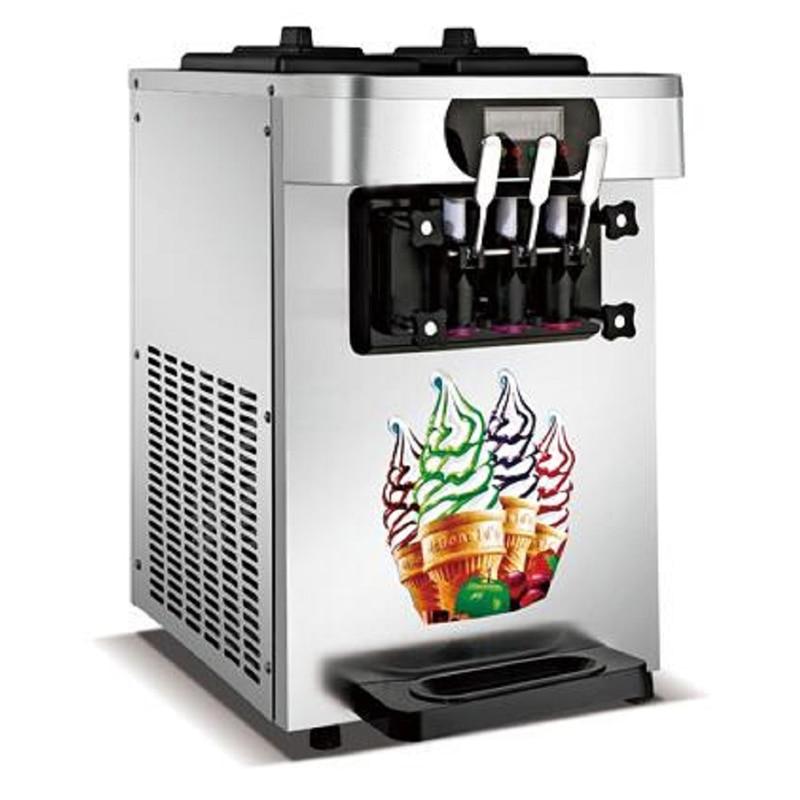 Gran oferta contador comercial superior suave máquina de hacer helados