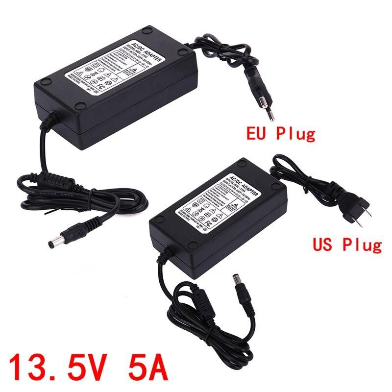 Universal 13,5 V 5A AC a DC adaptador de fuente de alimentación convertidor de Cable Dual 5.5x2.1-2,5 m Dispositivo de Monitor de luz instrumento electrónico