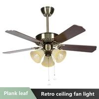 modern minimalist ceiling fan light wood fan leaf led smart mute dimming ac 220v 3642 inch dimmer for factory office living room