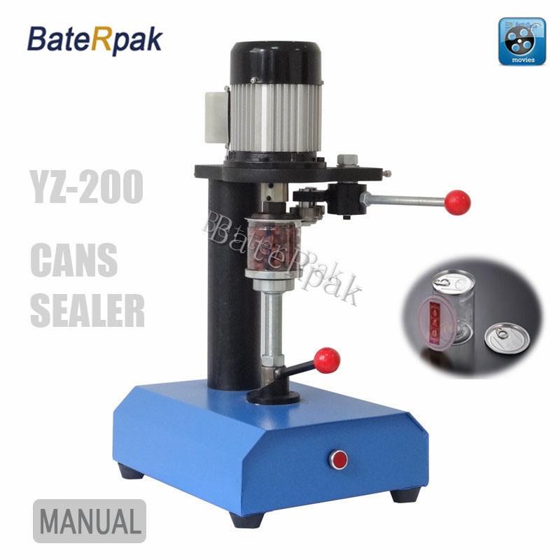 ماكينة تغليف الحاويات YZT-200 سطح المكتب BateRpak ، ماكينة ختم العلب ، علب ورقية ، خزان بلاستيك PET ، ماكينة تغليف الأواني المعدنية
