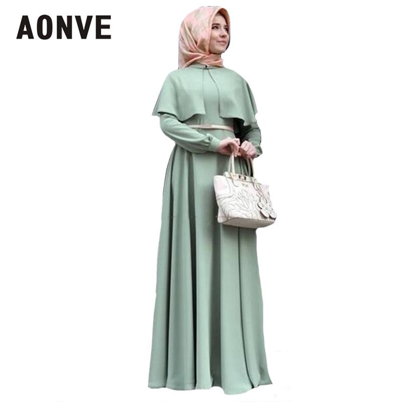 Aonve vestidos musulmanes bata pakistaní mujeres caftanes mantón musulmán Abaya Eid Formal Femme vestido marroquí caftán UAE ropa femenina