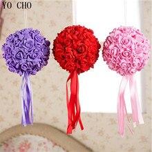 [18cm ] (6pcs/Lot) wholesale High Quality PE Rose Flower Ball Artificial Wedding flower ball Decoration