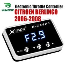 Régulateur daccélérateur électronique de voiture   Accélérateur de course, puissant rehausseur pour CITROEN BERLINGO 2006-2008 accessoires pièces de réglage