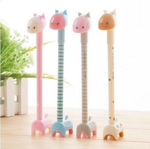 Nueva de Corea, estilo creativo, hermoso soporte, burro, bolígrafo colorido, nuevo diseño, papelería, bolígrafo de gel de jirafa para ensamblar