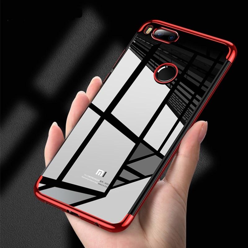 Funda de silicona transparente ultrafina suave de TPU para Xiaimi Redmi 4X 5A 5 5X A1 funda transparente para Redmi 5 Plus Note 4