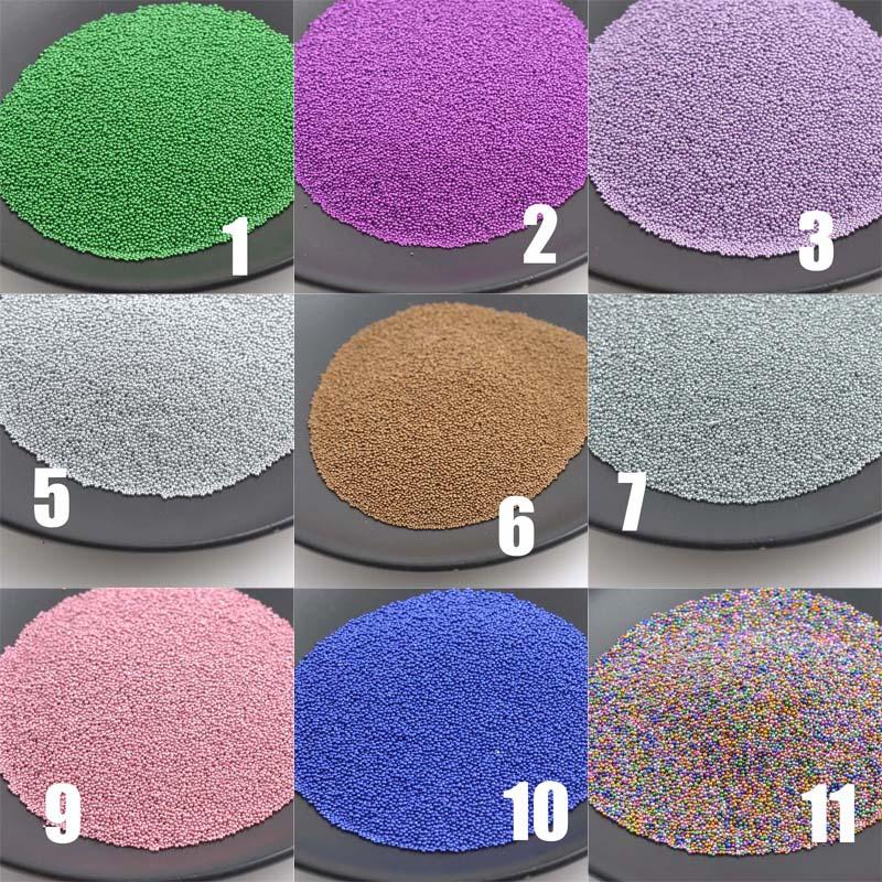 0.1-0.5mm 3d Tiny Glass Caviar Art Ball Beads UV Nail Tips Sticker Decoration 23g BL009