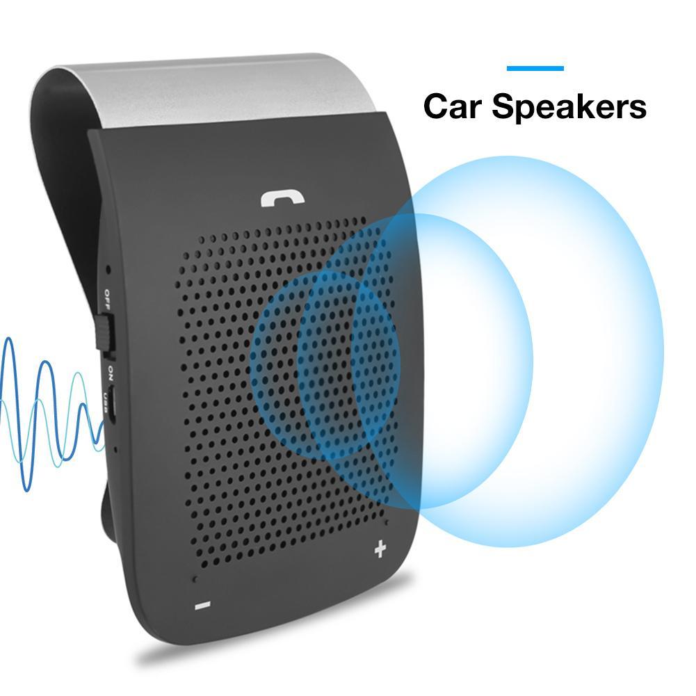 WS101 Bluetooth altavoz de coche inalámbrico manos libres Auto teléfono conexión Sunproof Kit con micrófono Clip diseño coche Conducción Segura hablar