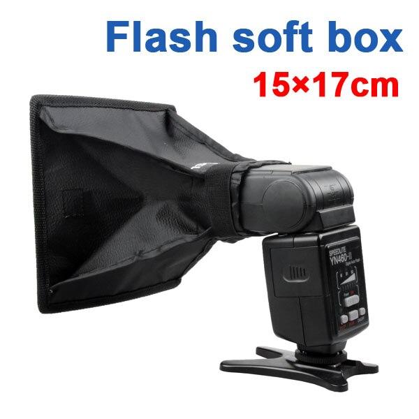 Difusor de Flash Universal Softbox 15x17cm para Flash de cámara para Godox Yongnuo YN-560 III 430EX 580EX II 600EX-RT SB600 SB900