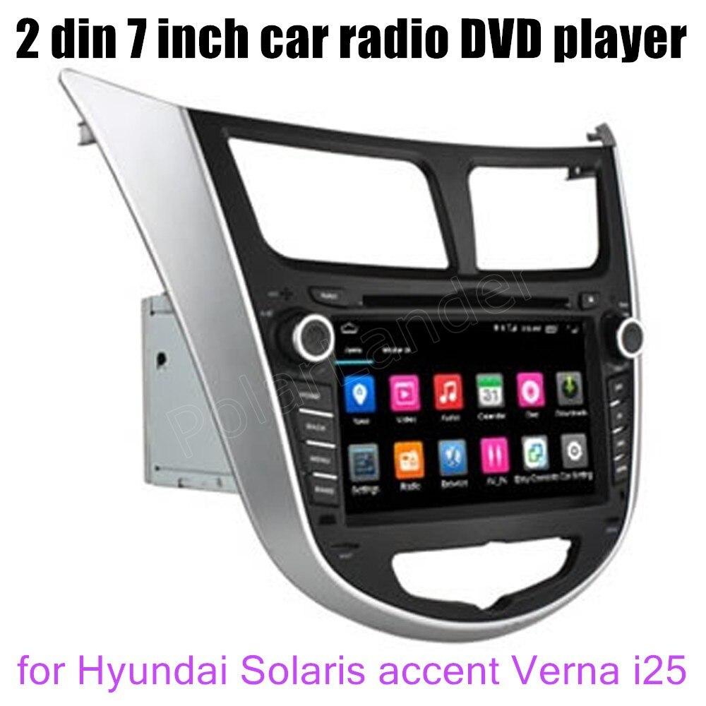 Apoyo cámara trasera Quad core Android 6,0 GPS del coche reproductor de DVD para Hyundai Solaris acento Verna i25 radio wifi