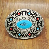 oval western native america indian belt buckle metal suit for 4cm width belt fashion accessories