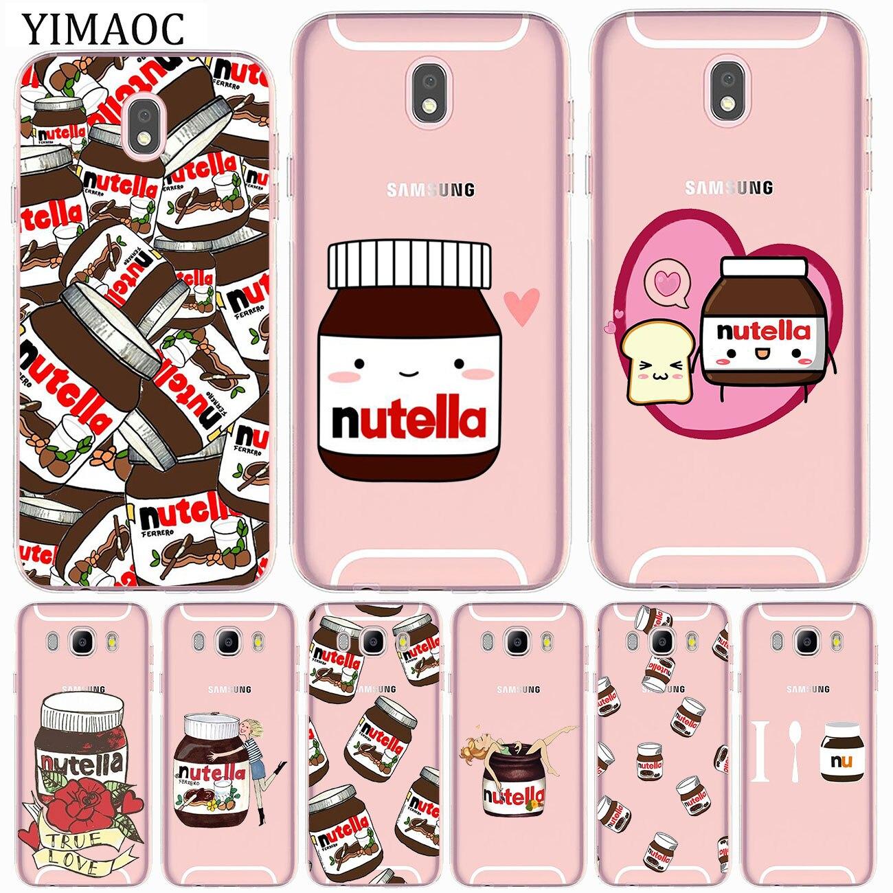 Chocolate comida Tumblr Nutella de silicona suave funda para Samsung Galaxy J8 J7 J6 J5 J4 J3 2017 A2 Core 2016 A5 A9 A8 A7 A6 Plus 2018
