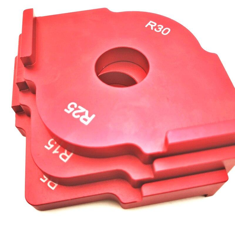 3 шт./компл. деревянная панель радиус Быстрый джиг маршрутизатор настольные биты для гравировки машина триммер джиг Угловые шаблоны набор