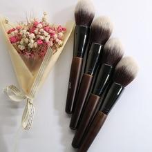 1 pièces Big Beauty poudre brosse Blush fond de teint rond maquillage grand cosmétiques aluminium pinceaux doux visage maquillage YA138