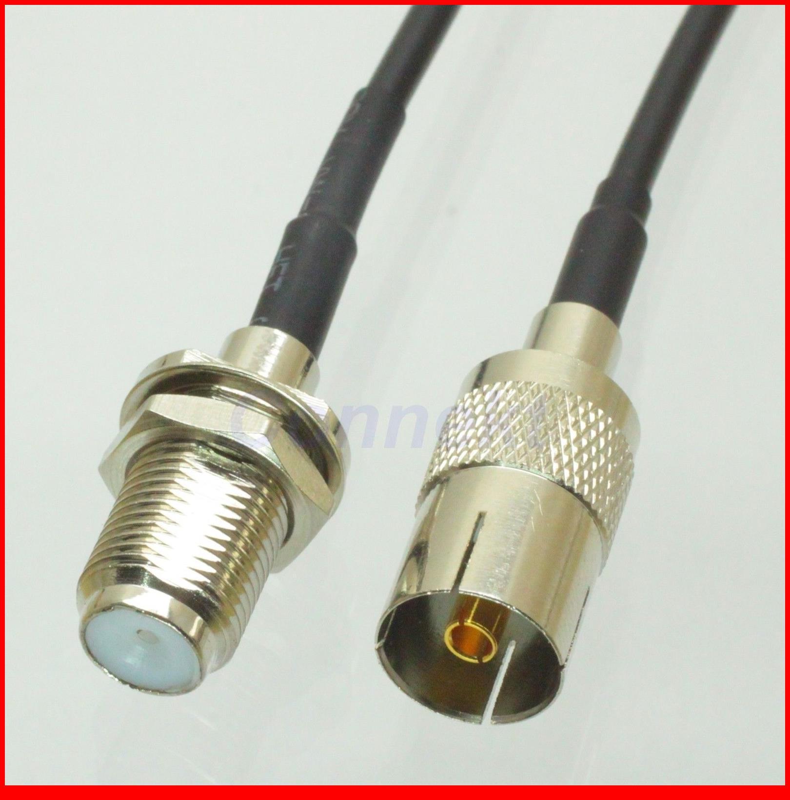 5 قطعة/الوحدة IEC dvb-t TV PAL الإناث إلى F الإناث الجوز RG174 الطائر ضفيرة 15 سنتيمتر