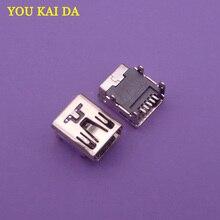 Prise femelle pour contrôleur tablette PS3   1 pièce, Mini USB, données puissance dc, jack 5 broches, prise 5pin, connecteur femelle, chargeur, port de chargement
