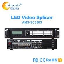 Contrôleur de mur vidéo 4K sdi SC358S pour LED de location dintérieur grand écran P3.91 prise en charge 4 carte denvoi nova msd300