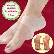 Qualité mise à niveau respirant Gel talon chaussettes Craked talon protecteur anti-dérapant pied talon problème réparation pieds soin 1 paire