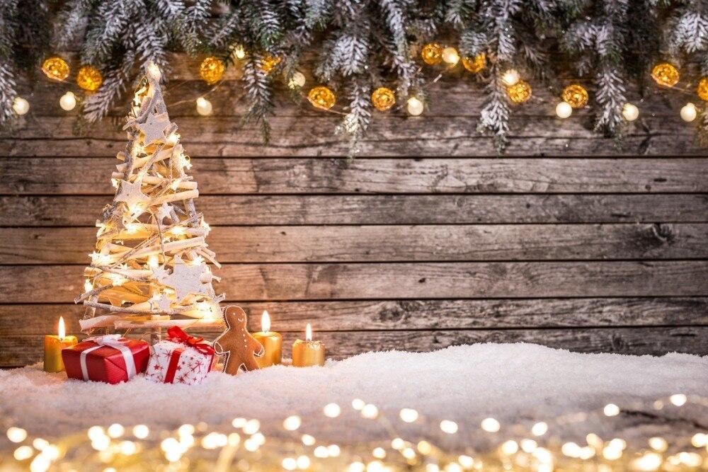 Fondos de vinilo decro de regalo de Navidad profesional para fotografía, velas estudio fotográfico FONDO DE NAVIDAD pared de madera XT6003