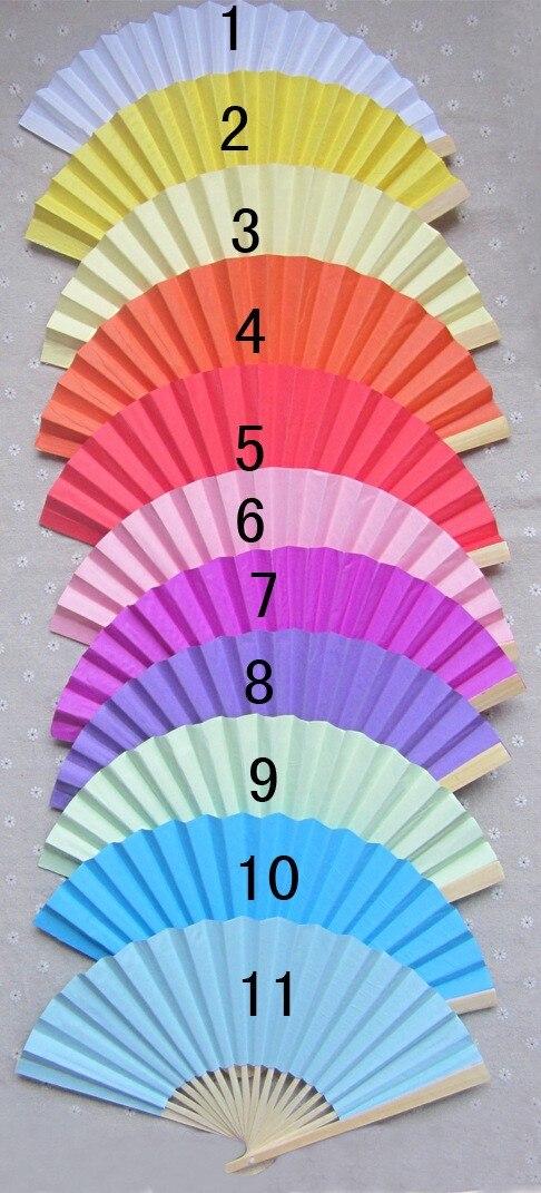 300 pçs/lote 23 cm Casamento Ventilador de Mão de Papel da Festa de Casamento Decoração cor Branca Promoção Favor lin4465