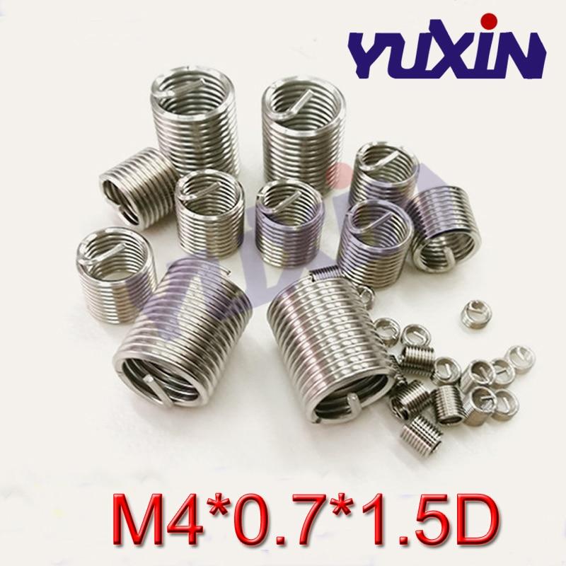 100 sztuk M4 * 0.7*1.5 DWire wstawić gwint ze stali nierdzewnej 304 z drutu, m4 śruba tuleja Helicoil nici wkładki do naprawy