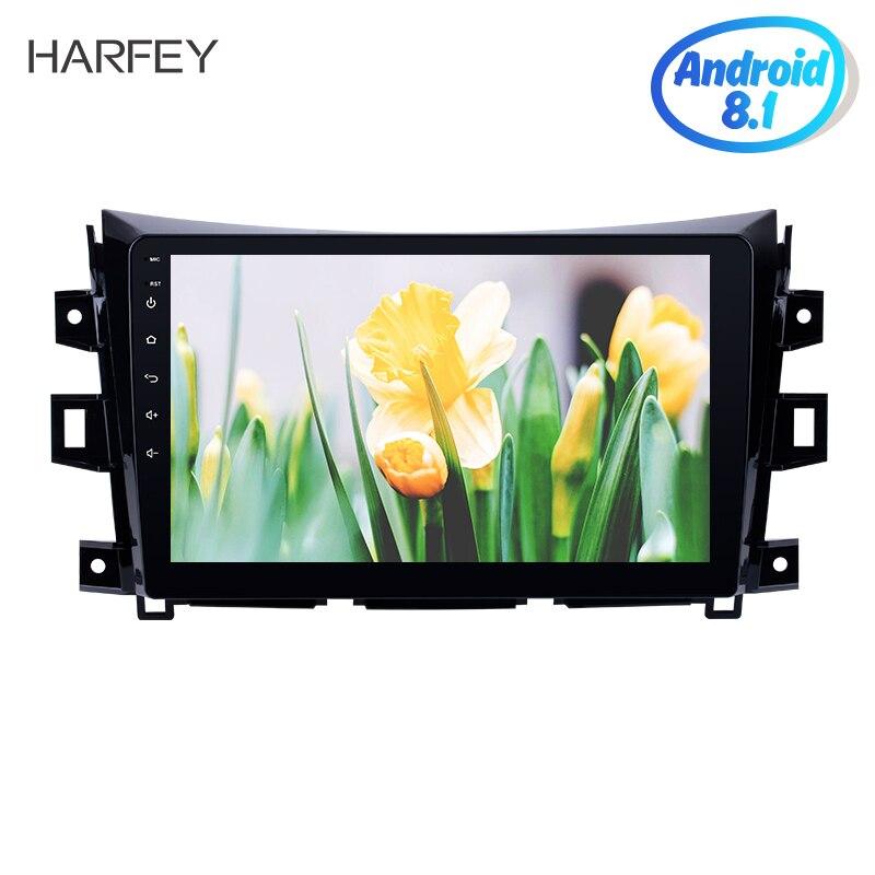 "Harfey Android 8,1 HD 10,1 ""reproductor Multimedia 2Din GPS Navi Stereo 1 + 16GB Radio del coche para 2011-2016 Nissan NAVARA frontera NP300"