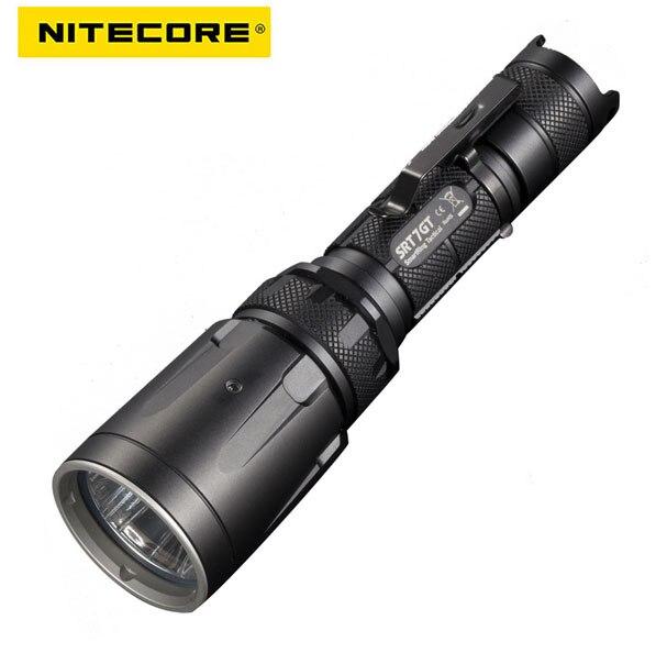 Linterna LED NiteCore SRT7GT Cree XP-L HI V3, roja, verde, azul, UV, negra, SRT7