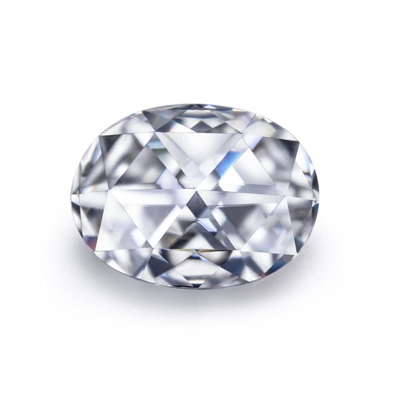 أحجار مويسانيتي فضفاضة ، جودة عالية ، EF ، 8*10 مللي متر ، قطع بيضاوي ، مويسانيتي ، لصنع المجوهرات