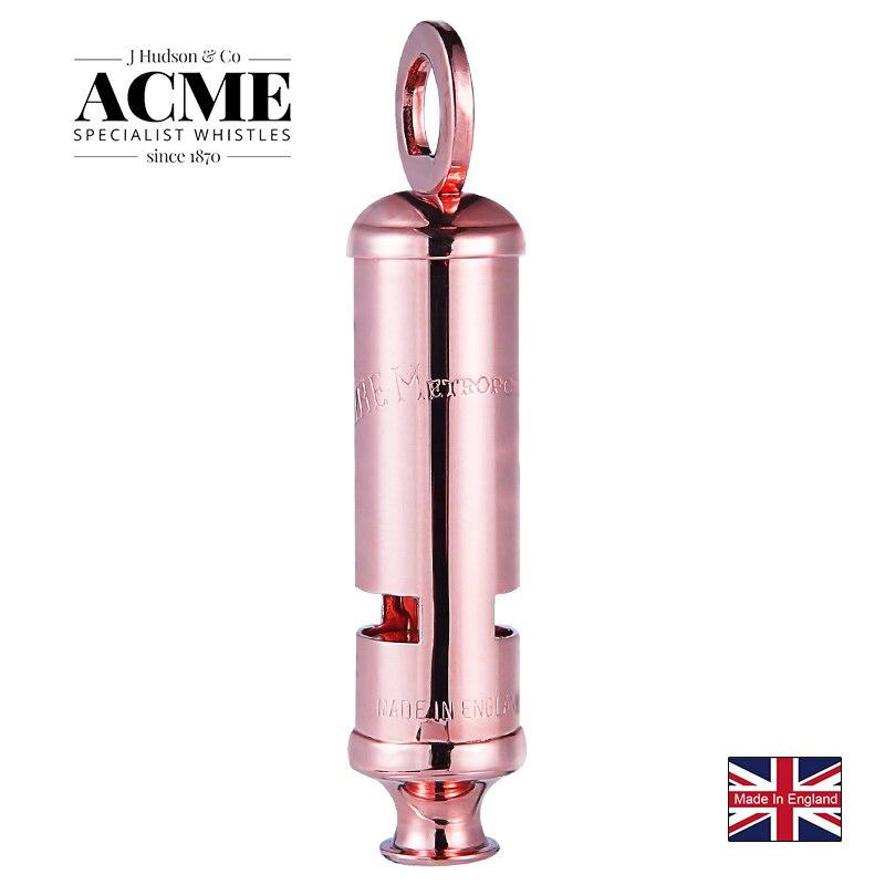 ACME métropolitain 15 édition limitée sirène en or Rose sifflet gravure Laser accessoires de mode sifflet de survie en plein air