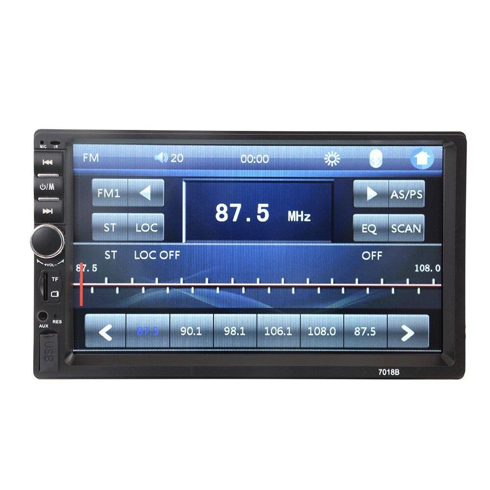 REPRODUCTOR DE MP5 Multimedia para coche de 7 pulgadas, Radio moduladora de FM, pantalla táctil, Bluetooth, manos libres, reproductor de Video musical para teléfono con cámara trasera