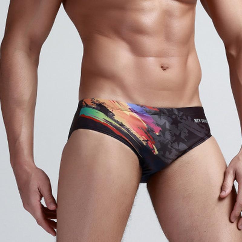 Bañador para hombre, de secado rápido Bañador estampado, calzoncillos de natación para hombre, Gay sexi, cintura baja, canzoncillos muy cortos, ropa de playa, M-XXL Sunga