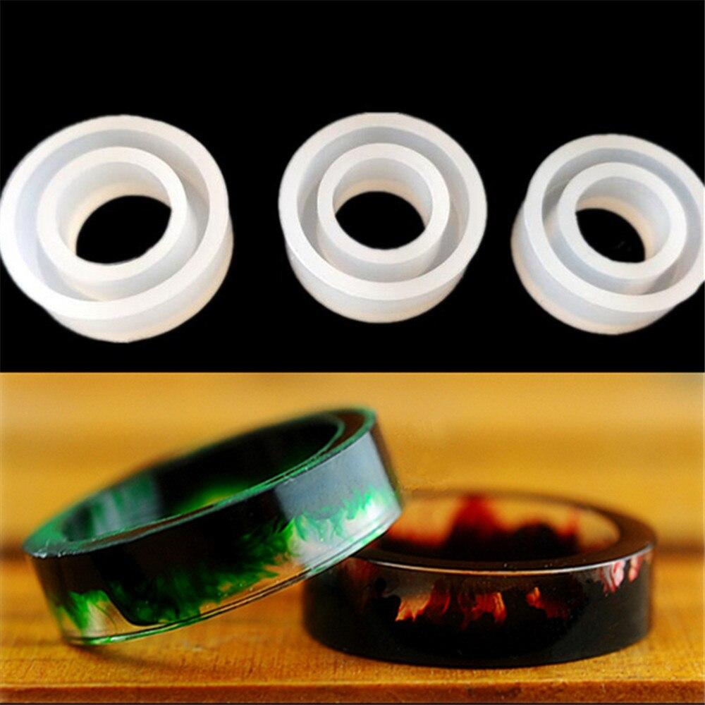 Diy fazer anel forma silicone molde de resina cola epoxy decoração ferramentas colar pingente translúcido moldes gotas cristal jóias molde