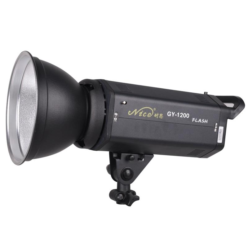 NiceFoto gy-1200w فلاش مصباح ضوء التصوير استوديو فلاش اطلاق النار ضوء ضوء الخلفية