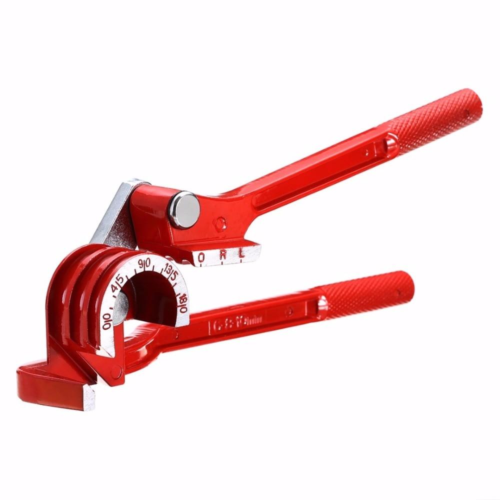 180 grados herramienta para doblar tuberías de doblador de tubo de aluminio de aleación de tubos de Bender de la línea de combustible alicates curvos herramientas mecanizado