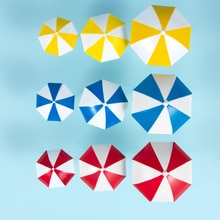 3 Color Beach Sun Umbrella Miniature PVC Landscape Bonsai Fairy Ornament Dollhouse Micro Landscape Decoration