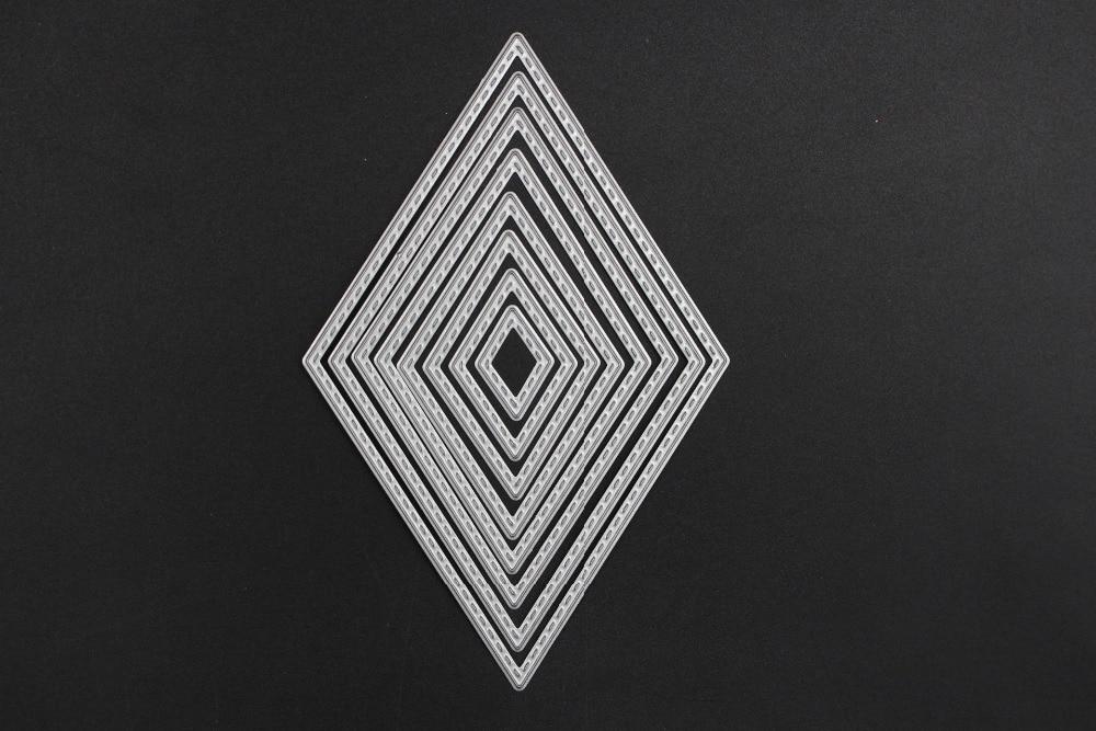 8Pcs Diamond Metal cutting dies for Scrapbook album invitation home decoration embossing stencils cut dies