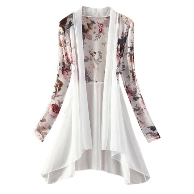 AliExpress - Women Kimono Vest Blusa Air Conditioning Sunscreen Female Blouses Jackets Long Chiffon Ladies Shirts
