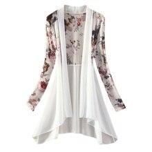 Frauen Kimono Weste Blusa Klimaanlage Sonnencreme Weibliche Blusen Jacken Lange Chiffon Damen Shirts
