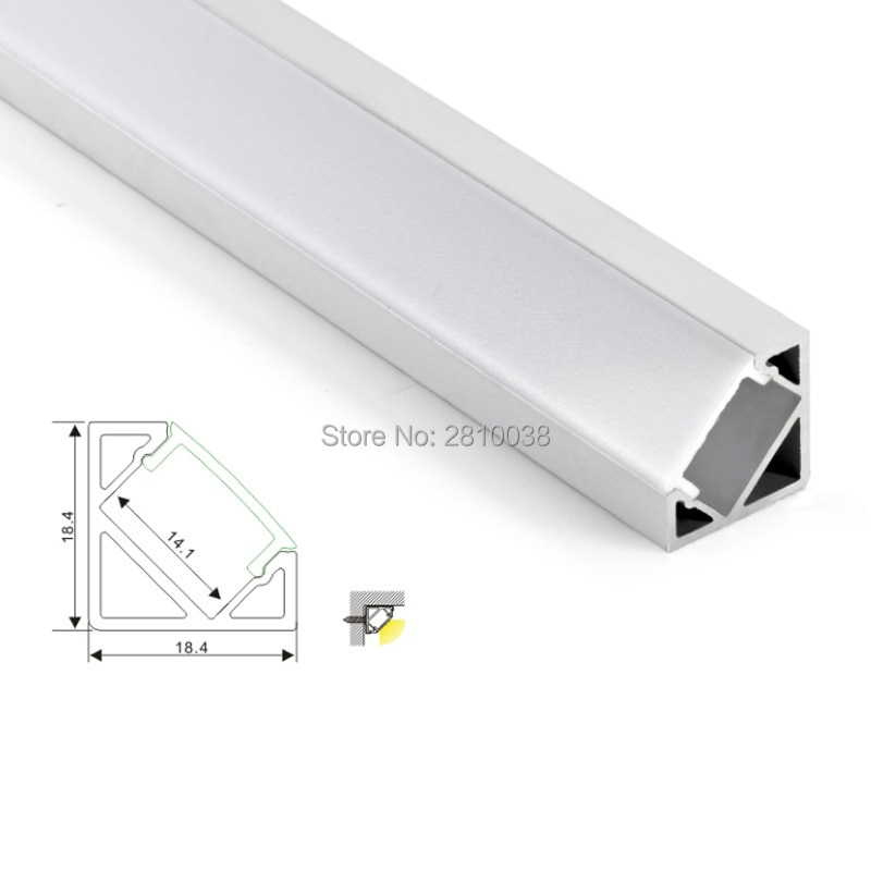 500 X 1M Sets/Lot angle shape led aluminum profile and 30 corner led channel with power place for closet or kitchen led lamp