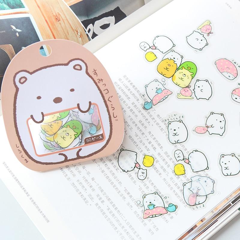 50-pz-pacco-kawaii-adesivi-fai-da-te-autoadesivi-del-pvc-del-fumetto-sveglio-bello-del-gatto-orso-sticker-per-la-decorazione-diary