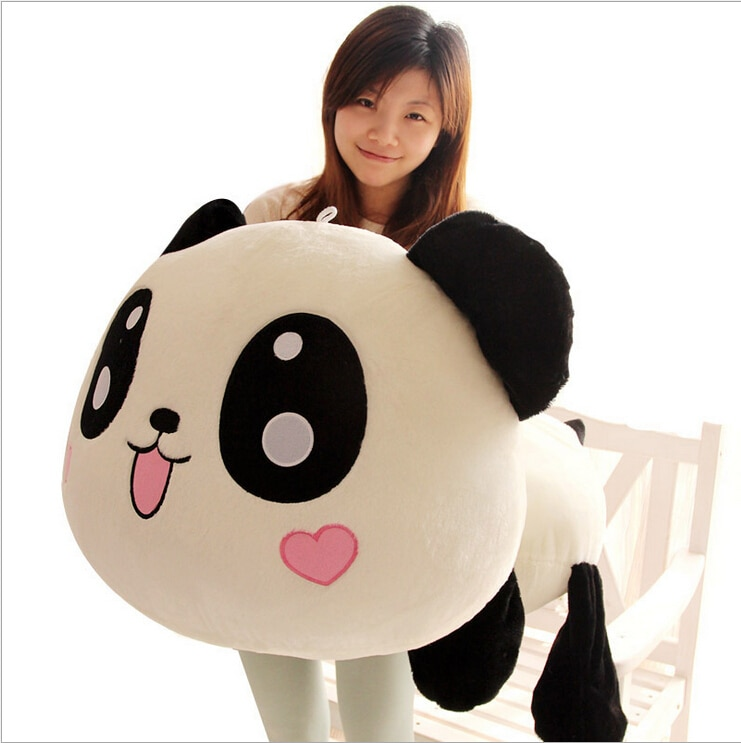 45cm Giant Panda Pillow Mini Plush Toys Stuffed Animal Toy Doll Pillow Plush Bolster Pillow Doll Valentine's Day Gift Kids Gift
